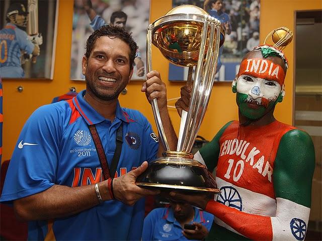 Sachin with his Die hard fan Sudhir Gautam